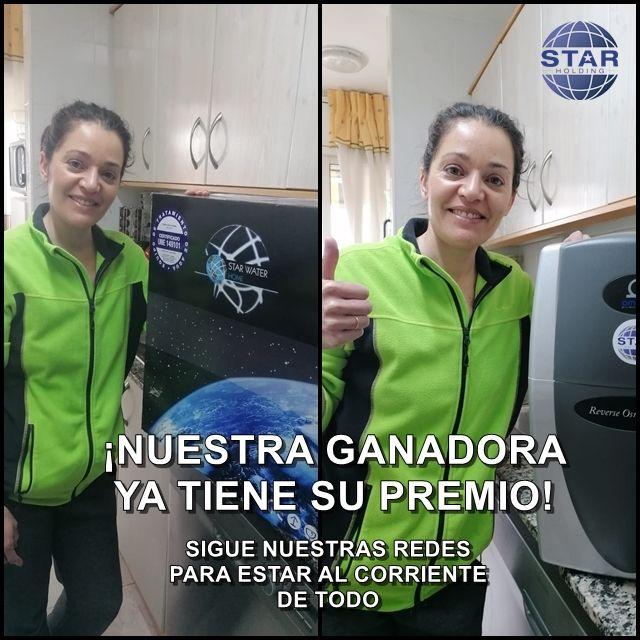 ganadora sorteo star water